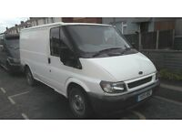 ford transit van ready for work