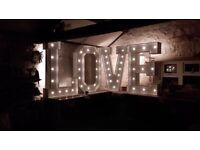 4ft LOVE LED Letters £150 TO HIRE!