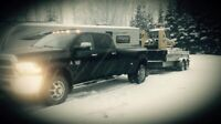 Snow removal and skid steer services/ hot shot