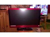 TV/ DVD, 23 INCH RED, LCD TECHNIKA