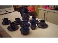 Vintage retro Winterling Bavaria Schwarzebach coffee set
