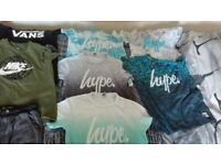 FOR SALE HYPE T SHIRTS/ NIKE/ VANS FOR BOYS. SIZE 13