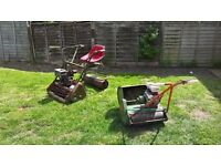 2 old lawnmowers for spares or repairs