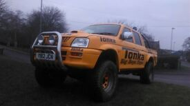 mitsubishi l200 pickup modified mini tonka monster truck crew cab 4x4 on rd off road 35inch tyres
