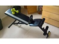 ADIDAS UTILITY BENCH WITHKETTLEBELL 8 KG AND 2X 4 KG DUMBBELS