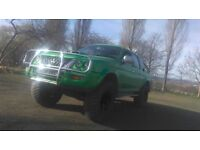 mini monster truck mitsubishi l200 4x4 pick up crewcab modified lifted 35inch tyres full mot
