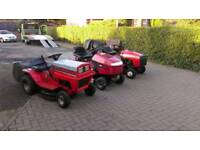 2X RIDE ON LAWNMOWERS FORSALE