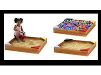 Plum Junior Wooden Sand Pit With Seats - New IF YOU SEE THIS AD IT'S STILL AVAILABLE