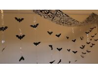 3 Metre Hanging Bats Halloween Decorations - Brand New - Fast & Free Delivery