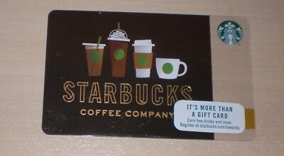 STARBUCKS USA DRINK LINE-UP 2017 GIFT CARD.NO VALUE COLLECTORS ITEM