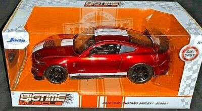 JADA 2020 1/24 DIE CAST BIGTIME MUSCLE 2020 RED FORD MUSTANG SHELBY GT500 NEW!