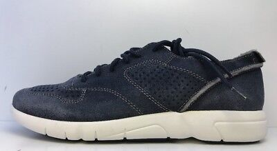 Geox Respira Men's Navy Lace Up Trainers Uk 8