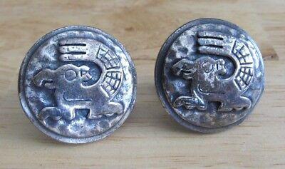 Mens Vintage SOUTHWEST HAMMERED AZTEC CUFFLINKS Costume Jewelry D53 (Aztec Costume For Men)