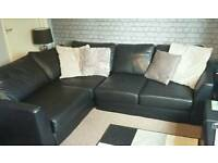 Black leather corner sofa SWAP only (will sell for £250)