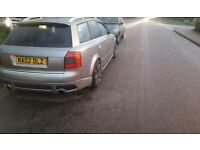 AUDI A4 B6 2.5 TDI V6 CUSTOM EXHAUST WITH GUTTED CATS AND GUTTED STARTER CAT