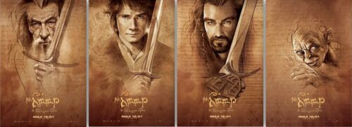 The Hobbit set of 4 13x20 mini movie posters (IMAX midnight screening EXCLUSIVE)