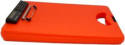 Saunders Deskmate Ii With Calculator 00543 Plastic Storage Clipboard - Orange...