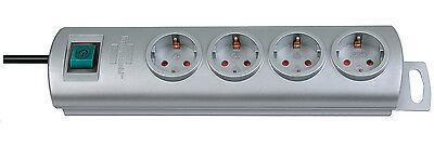 Brennenstuhl Steckdosenleiste Primera-Line Silber 4-fach Mehrfachsteckdose