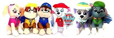 "Set of 6 nickelodeon Paw Patrol 8"" Character  Plush Stuffed Animal Toy New"