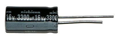 1- 3300uf 3300ufd16v Volt Hi Temp Radial Nichicon Electrolytic Capacitor