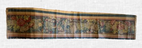 Beautiful Rare 19th C. French Oil Painted Border For Aubusson Woven Development