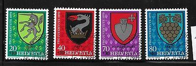 Briefmarken Schweiz 1165 - 1168 gestempelt  Pro Juvente