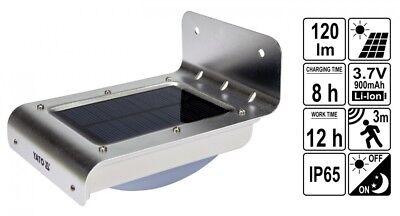 LED Solarleuchte Aussen Wandleuchte 16SMD-LED 120LM mit Bewegungsmelder