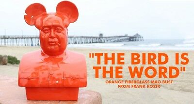 "The Bird Is The Word fiberglass 30"" Orange Mega Mao by Frank Kozik #19 of 25"