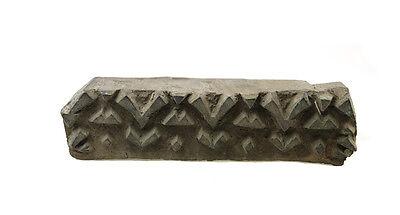Antique Bunta Stamped Wood Printing Fabric Textile Batik Rajasthan India X68