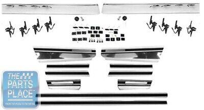 70-72 Chevrolet Monte Carlo Body Molding & Rocker Panel Trim Set With Hardware