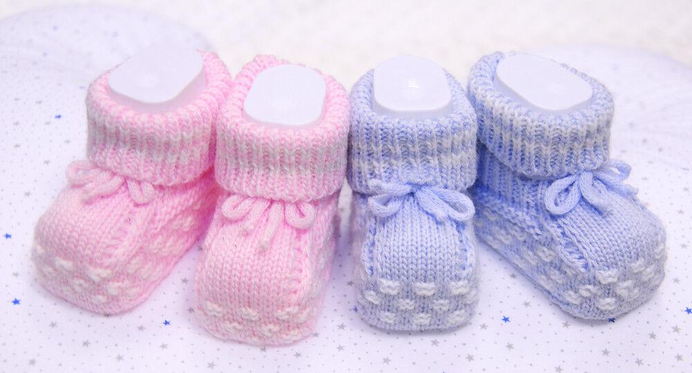 Strickschuhe Baby Stricksocken Socken Booties Schuhe Erstlingschuhe Socks Rosa