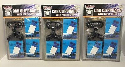 3pc Car Clipboard W/ Paper Refill Suction Clipboard FREE SHIPPING USA SELLER
