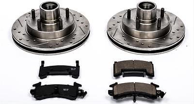 Power Stop Brake Rotors/Pads Cross-Drilled/Slotted Front Chevy GMC Isuzu Kit