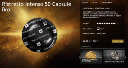 Various Flavours - Nespresso Coffee Capsules/Pods *Free Post*