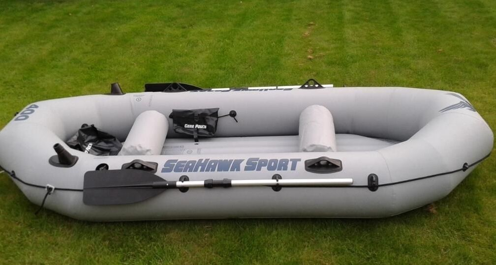 Intex Seahawk Sport 400 Rubber Inflatable Dinghy Motor