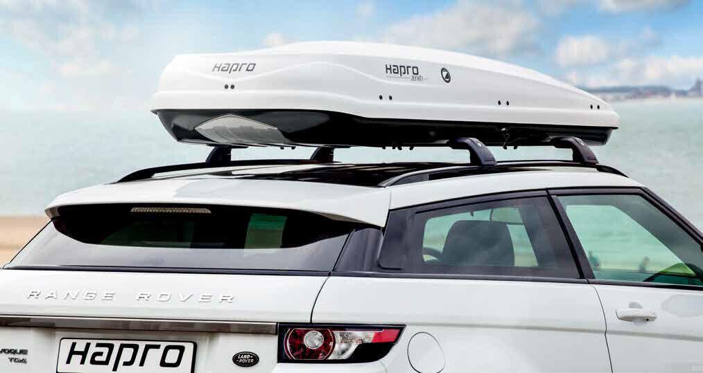 NEUE Dachbox HAPRO Zenith 8.6 weiß, 440 Liter, Länge innen 2,10m ideal Skibox