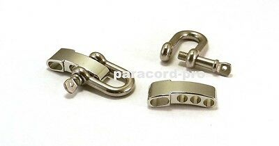 4 Stainless Steel Adjustable 'u' Shackles Clasp 550 Paracord Survival Bracelets