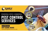 100% Guaranteed Pest Control - Mice, Bed bugs, Cockroaches, Ants & Wasps treatment