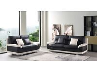 LEATHER SOFA 3+2 MATRIX, ONLY £599 FREE COFFEE TABLE INCLUDED LMTD OFFER BRAND NEW EXCLUSIVE DESIGN