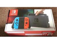 Nintendo Switch Neon Red/Neon Blue Console BRAND NEW