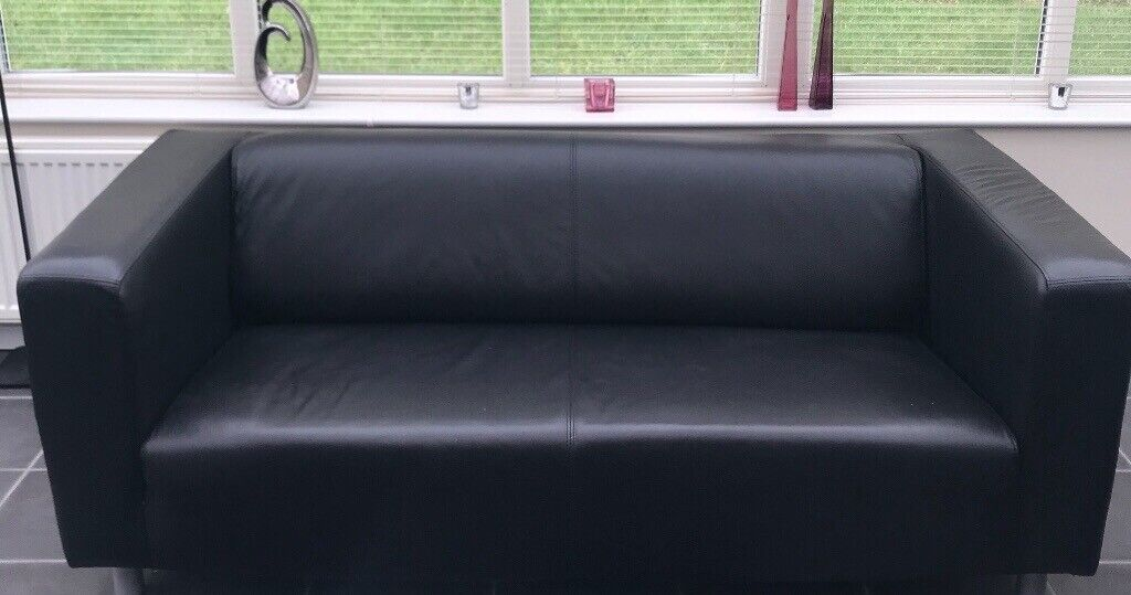 Cool Rrp 220 Ikea Klippan Black Leather Sofa In Bolton Manchester Gumtree Bralicious Painted Fabric Chair Ideas Braliciousco