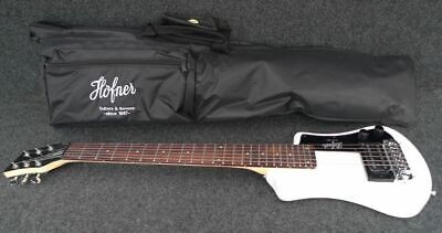 HOFNER HCT-SH-WH SHORTY TRAVEL Electric Guitar WHITE with Gig Bag
