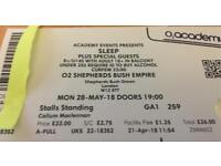 SLEEP ticket Shepherd's Bush Empire 28/05/2018