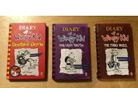 3 Diary of a Wimpy Kid hardback books