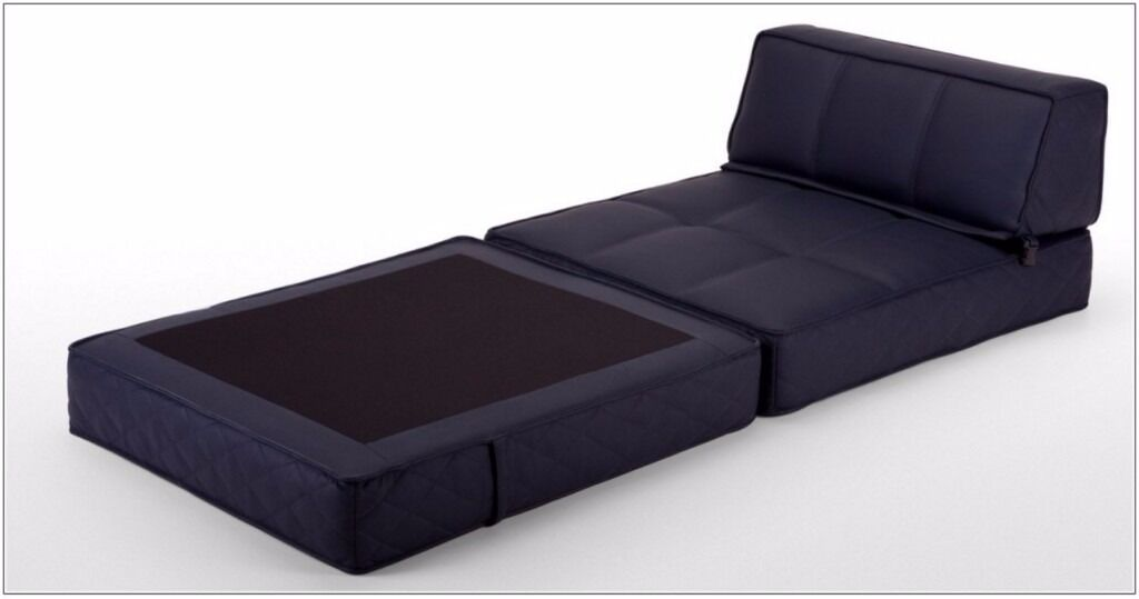Ottoman Navy Fold Out Single And Double Bed Sofa Seats