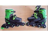 Zinc Aggressive Inline Skates Rollerblades size 13-3 UK Inline Blades Neon Green