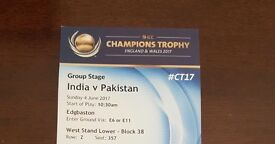 Ind Vs Pak ICC World Cup Tickets for 2 Adults + Kid