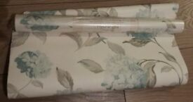 1 x roll Laura Ashley wallpaper duck egg hydrangea + part roll