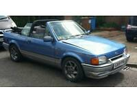 Ford escort convertible with rs turbo engine