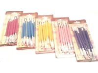 WHOLESALE JOBLOT X100 PACKS CAKE DECORATION 8 PIECE DUAL ENDED 16 TOOL MODELLING SET CLAY CRAFTS